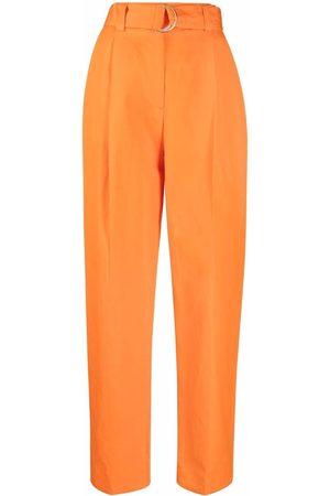 Msgm Mujer Pantalones y Leggings - Pantalones rectos con cinturón