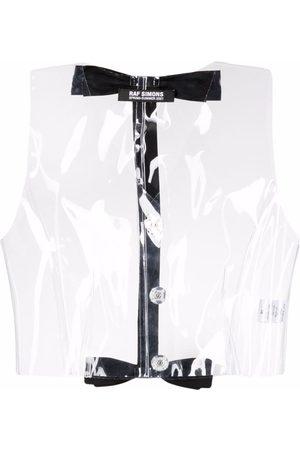 RAF SIMONS Mujer Tops - Top sin mangas transparente con detalle de lazo