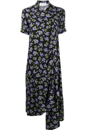 Natasha Zinko Mujer Estampados - Vestido drapeado con motivo floral