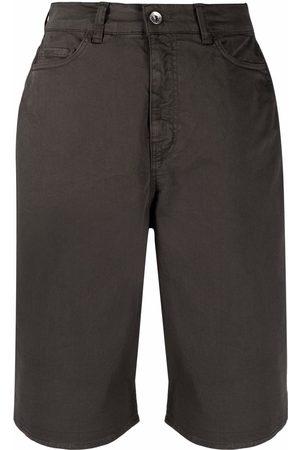 YMC Mujer De mezclilla - Shorts de mezclilla con logo