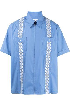 Ports V Camisas - Camisa con franjas con motivo geométrico