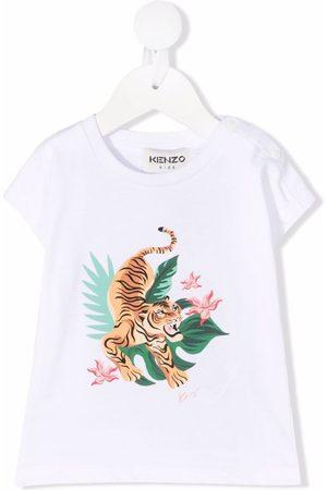 Kenzo Playeras - Playera con tigre estampado
