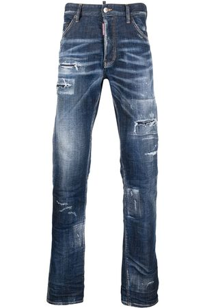Dsquared2 Hombre Acampanados - Jeans bootcut con efecto envejecido
