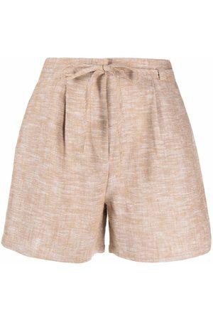 12 STOREEZ Mujer Shorts - Shorts con cordón en la pretina