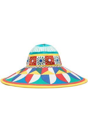Dolce & Gabbana Mujer Sombreros - Sombrero de verano con estampado gráfico