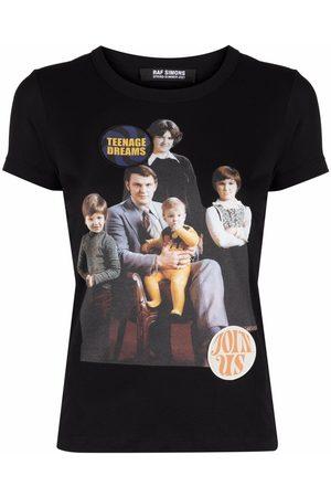 RAF SIMONS Mujer Playeras - Camiseta estampada con retrato familiar