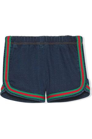 Gucci Kids Pantalones vaqueros cortos con rayas