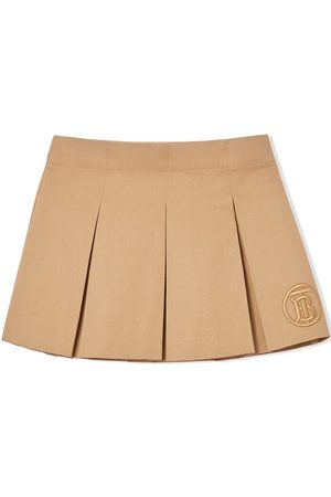 Burberry Faldas - Falda plisada con monograma