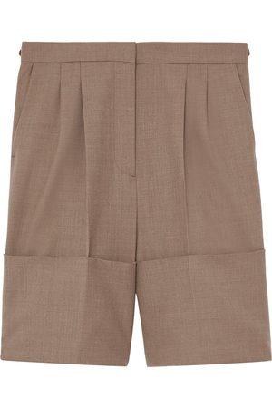 Burberry Mujer Shorts - Shorts de vestir con dobladillo vuelto