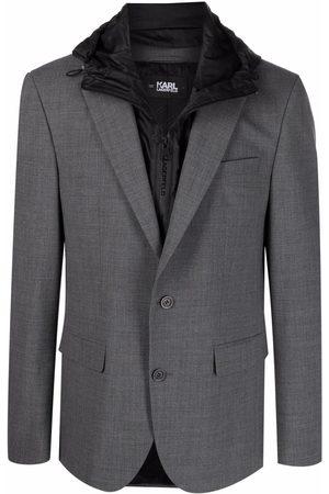 Karl Lagerfeld Hombre Sacos - Blazer con capucha removible