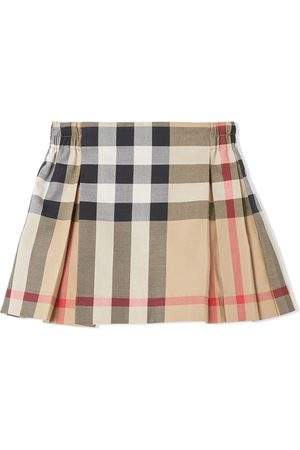 Burberry Faldas - Check-print pleated skirt