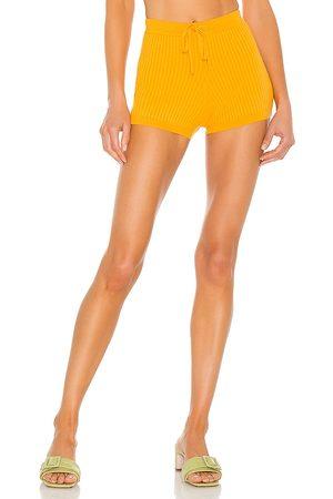 Lovers + Friends Pantalones cortos de punto stacie en color naranja talla L en - Orange. Talla L (también en XXS, XS, S, M, X