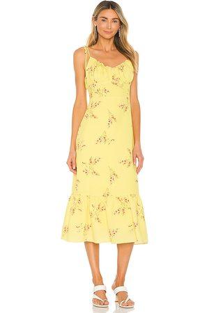 LINE & DOT Vestido hailey en color amarillo talla L en - Yellow. Talla L (también en XS, S, M).