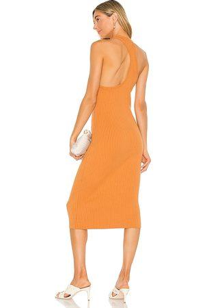 LINE & DOT Vestido lori en color naranja talla L en - Orange. Talla L (también en XS, S, M).