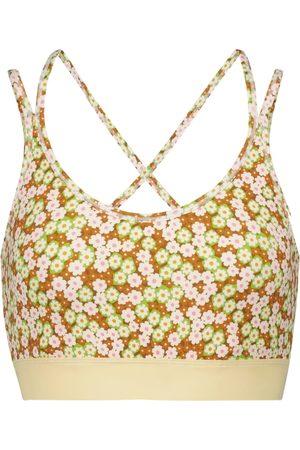 Tory Sport Floral stretch-jersey sports bra