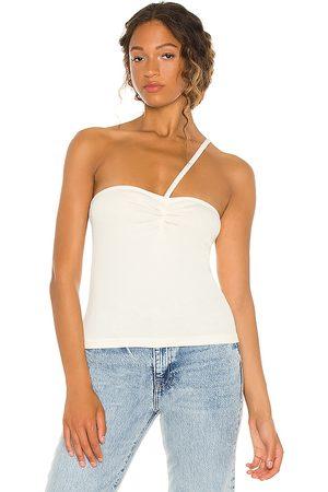 AGOLDE Camiseta tirantes lola en color crema talla L en - Cream. Talla L (también en XS, S, M, XL).
