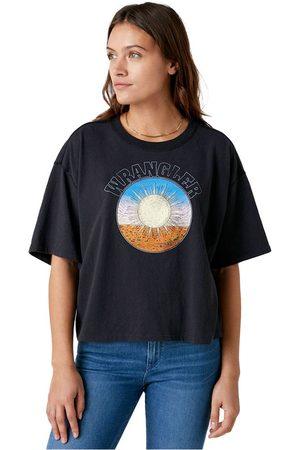 Wrangler Boxy Short Sleeve T-shirt L Washed Black