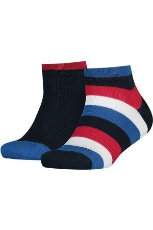 Tommy Hilfiger Basic Stripe Quarter 2 Units Socks EU 35-38 Midnight Blue