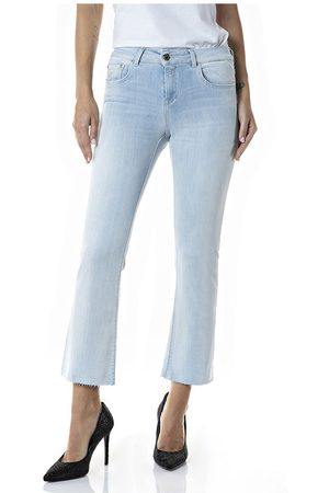 Replay Mujer Crop tops - Faaby Flare Crop 25 Super Light Blue