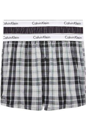 Calvin Klein Hombre Lencería y Ropa interior - Slim 2 Units L Ryan Stripe D Well / Hickory Plaid B