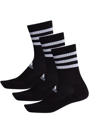 Adidas 3 Stripes Cushion Crew 3 Pairs EU 43-45 Black / Black / Black