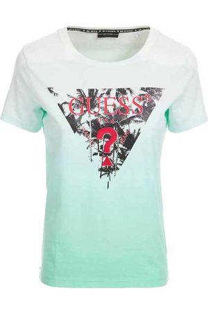 Guess Palms Short Sleeve T-shirt L Pink Deep Dye