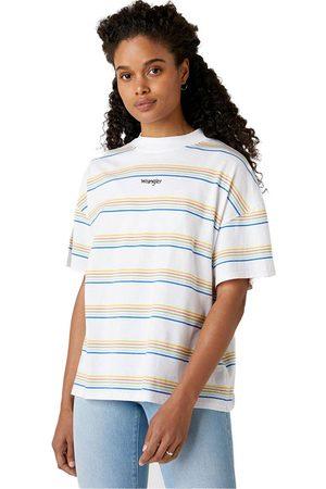 Wrangler High Neck Girlfriend Short Sleeve T-shirt L White 3