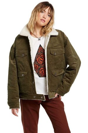 Volcom Mujer Abrigos y Chamarras - Woodstone Reversible XS Olive