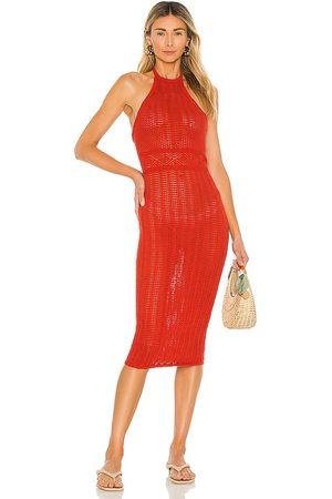 Lovers + Friends Vestido halter rae en color rojo talla L en - Red. Talla L (también en XXS, XS, S, M, XL).