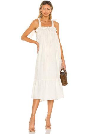 LPA Vestido lavan en color talla L en - Cream. Talla L (también en XXS, XS, S, M, XL).