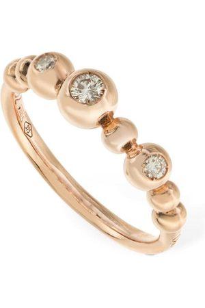 Dodo Anillo Bollicine De Oro Rosa 9kt Con Diamante