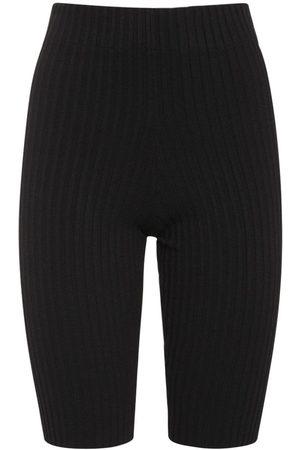 ANDREA ADAMO Mujer Pantalones y Leggings - Shorts De Mezcla De Viscosa