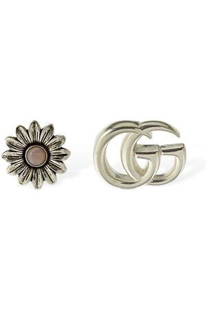 """Gucci Pendientes """"double G Flower"""" De Madreperla"""