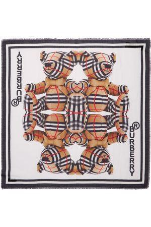 Burberry Foulard De Seda Y Algodón Con Estampado De Osos