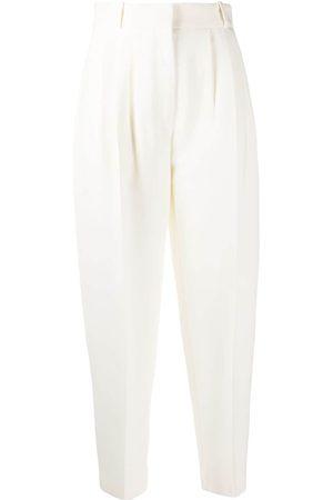 Alexander McQueen Pantalones tapered con pinzas