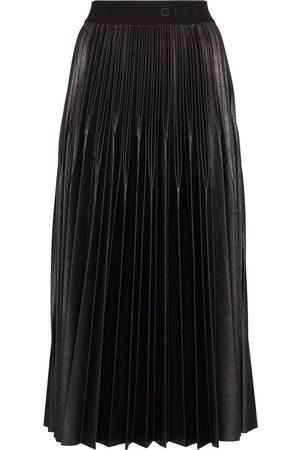 Givenchy Mujer Plisadas - Falda con pliegues y logo en la pretina