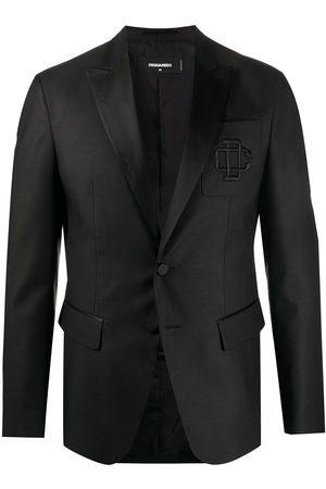 Dsquared2 Hombre Sacos - Blazer con logo bordado
