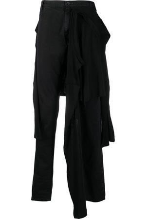 Raf Simons Hombre Skinny - Jeans slim con panel de playera en la cintura