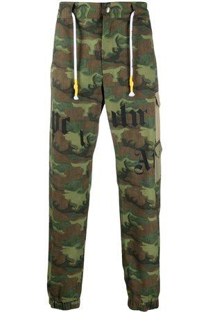 Palm Angels Hombre Cargo - Pantalones cargo con estampado militar