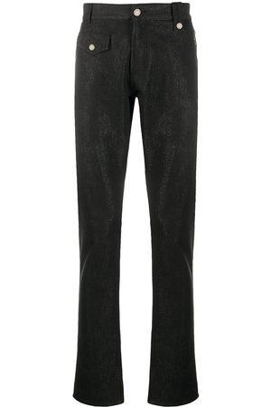 Alexander McQueen Hombre Rectos - Jeans con parche del logo