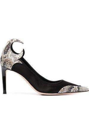 Giuseppe Zanotti Mujer Stiletto - Zapatillas con efecto de piel de serpiente