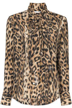 Victoria Beckham Camisa con estampado de leopardo