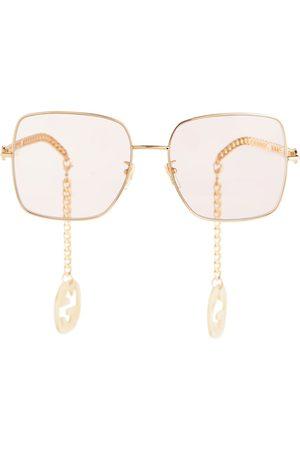 Gucci Chain-trimmed square sunglasses