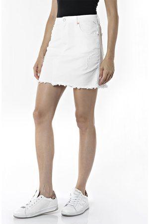 Replay W9898.000.84053r7.100 Skirt 30 Optical White
