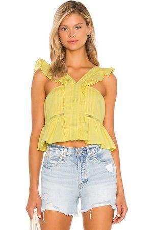 Tularosa Mujer Tops - Top bordado brit en color amarillo talla L en - Yellow. Talla L (también en XXS, XS, S, M).