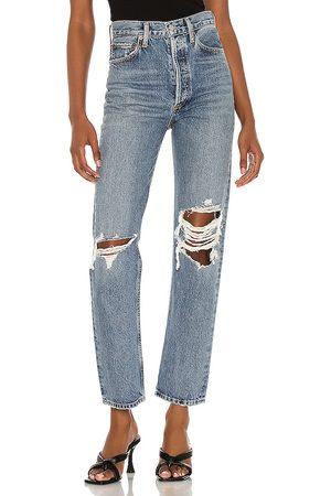 AGOLDE Mujer Jeans - Jean pierna recta 90s en color azul talla 23 en - Blue. Talla 23 (también en 24, 25, 26, 27, 28, 29, 30, 31, 32).