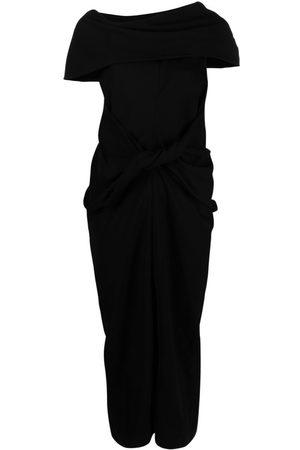 AMBUSH Mujer Asimétricos - Vestido midi asimétrico