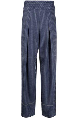 KOCHÉ Mujer Acampanados - Pantalones a rayas diplomáticas