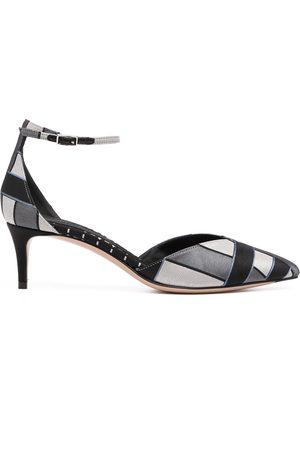 Armani Mujer Tacones - Zapatillas con estampado de cuadros