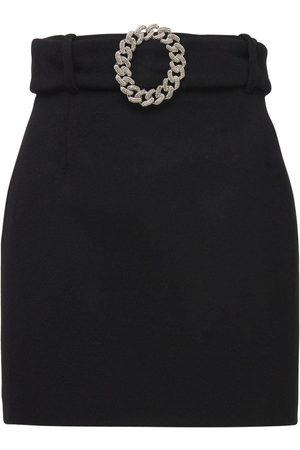GIUSEPPE DI MORABITO Mujer Minifaldas - Mini Falda De Lana Con Cinturón